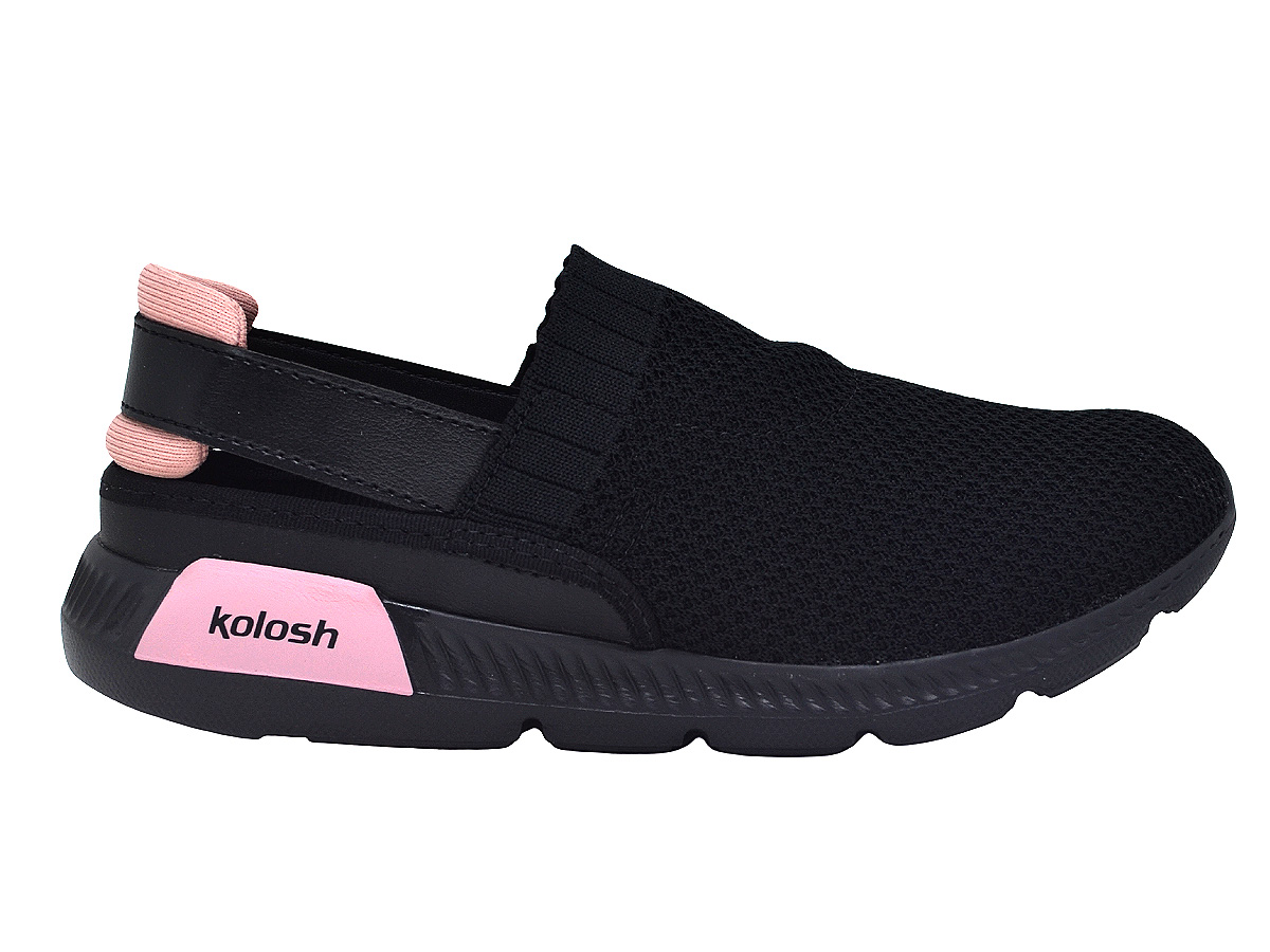 Tênis Feminino Babuche confortável Kolosh K8486a Preto