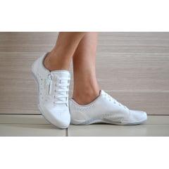 Sapatenis Tênis Casual Feminino Zíper  Kolosh C1299 Branco