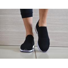 Tênis Feminino Tricot Confortável Usaflex ad1113 preto