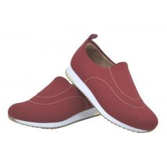 Tênis Feminino Confortável Neoprene Usaflex V9103 Vermelho