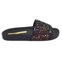 Chinelo Feminino Slide Moleca Glitter Brilho 5414