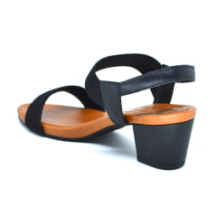 Sandália Confortável Salto Anatomica Usaflex Y8204 Preto
