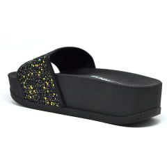 Sandália Feminina Slide Plataforma Glitter Moleca 5432101
