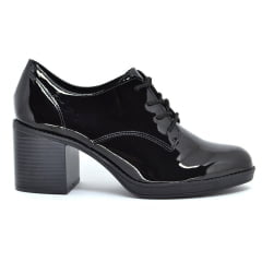 Sapato Oxford Salto Grosso Feminino Verniz Beira Rio 4225101